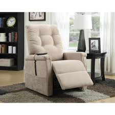 PRI Brown Fabric Power Lift Recliner DS 1667 016 051 The Home Depot