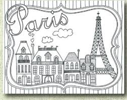 Printable Paris Coloring Page For Adults PDF JPG Instant Download Book