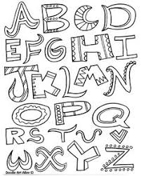 Coloring Letter Pages