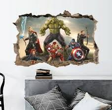 infinity war 3d wandtattoo wandsticker deko kinderzimmer ebay