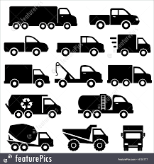 Illustration Of Trucks Icon Set