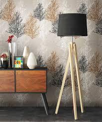 newroom papiertapete blumentapete braun wallpaper floral blumen tapete pflanzen wohnzimmer schlafzimmer büro flur kaufen otto