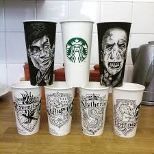 I Draw Famous Characters And People On Starbucks Cups