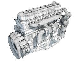 100 Truck Engine 3D Model 3D Horse