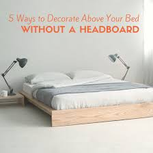 5 Ways To Decorate Above Your Bed Without A Headboard