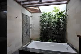 Plants In Bathrooms Ideas by Alluring Grey Pebble Ornaments For Innovative Tropical Bathrooms