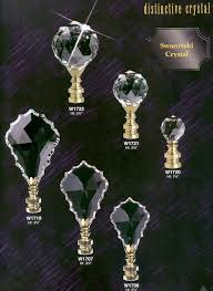 Swarovski Crystal Lamp Finials by Crystal Chandelier And Lamp Parts