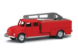 100 Tootsie Toy Fire Truck Department Rotary Crane Mrklin