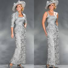 new silver mother of the bride dresses grey lace sheath formal