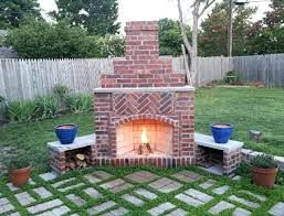 How To Build An Outdoor Brick Fireplace How To Build A