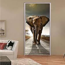 libby afrika elefant lebendige tür aufkleber tier