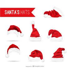 Santa Claus hats pack Vector
