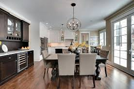 Buffet Dining Room Traditional With Dark Wood Cabinets