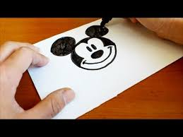 Very Easy How To Draw A Disney Mickey Mouse