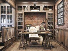 Home Office In Rustic Style Vintage For A Private Residence Denis Krasikov