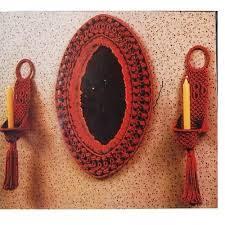 Handmade Creative Micrame Wall Hanging Mirror Mirror2