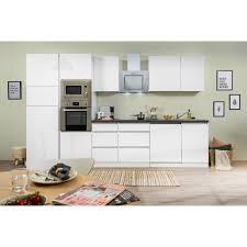 respekta premium küchenzeile glrp345hwwgke 345 cm weiß hochglanz