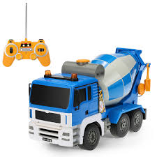 Best E518-003 1/20 Scale 27MHz 4WD Concrete Mixer Engineering Truck ...