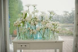 Single Stem Bottles Wedding Table Decorations