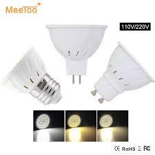 5pcs lot led bulb e27 gu10 mr16 110v 220v l light bulbs 4w 6w