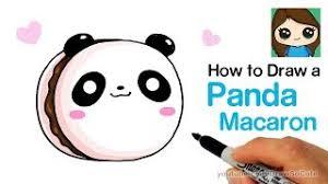 How To Draw A Panda Macaron Cute