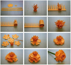 Paper Flower Craft Step By