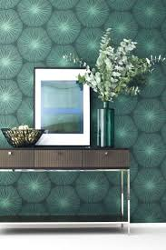 strahlende wohnzimmertapete skandi in grün tapete grün