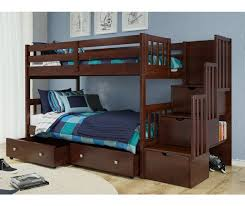 Bunk Bed Huggers by Mission Stairway Bunk Bed Bunk Beds With Staircases For Kids