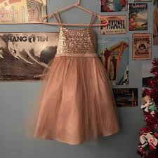 NWOT Kids Rose Gold Dress