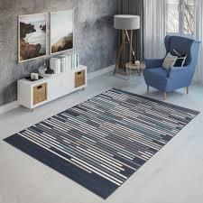 teppich neu kurzflor modern streifen jugendzimmer