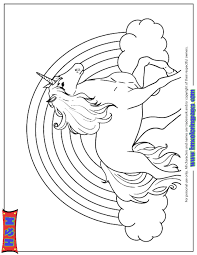 Unic Simple Rainbow Unicorn Coloring Pages