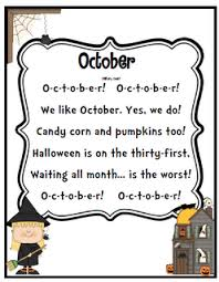 Poems About Halloween For Kindergarten by Free October Poem Teaching Ideas Pinterest Poem And