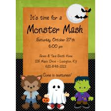 Halloween Lexington Ky by Monster Mash Personalized Halloween Party Invitation