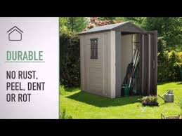 keter apex plastic garden shed 6 x 4ft at youtube