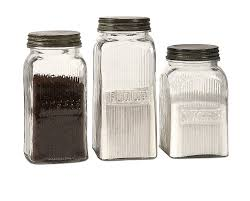 Rustic Kitchen Canister Sets by Amazon Com Imax 84776 3 Dyer Glass Canisters Set Of 3 Home