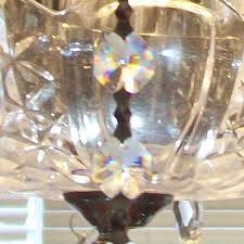Hanging Crystals For Cylinder Vase 5 Pc Martini Glass Ch