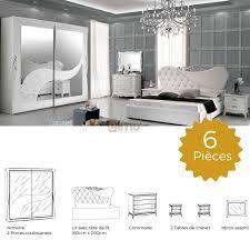 style de chambre adulte promo chambre design complète pas cher lit armoire commode