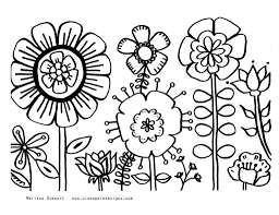 Spring Flower Coloring Pages With Of Flowers