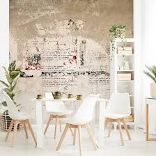 betonoptik vlies tapete poster alte betonwand bertolt brecht