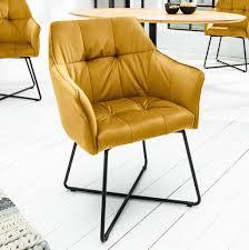 retro design stuhl loft senfgelb samt esszimmerstuhl armlehnstuhl polsterstuhl mit armlehne
