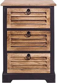 mobili badezimmerschrank kommode mit 3 schubladen dunkles holz für wohneinrichtung ideen für schlafzimmer bad haus maße 63 x 42 x29 cm