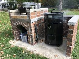 DIY Brick Pit Barrel Cooker Enclosure With Dutch Oven Table ... Building A Backyard Smokeshack Youtube How To Build Smoker Page 19 Of 58 Backyard Ideas 2018 Brick Barbecue Barbecues Bricks And Outdoor Kitchen Equipment Houston Gas Grills Homemade Wooden Smoker Google Search Gotowanie Pinterest Build Cinder Block Backyards Compact Bbq And Plans Grill 88 No Tools Experience Problem I Hacked An Ace Bbq Island Barbeque Smokehouse Just Two Farm Kids Cooking Your Own Concrete Block Easy