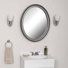amazon com zenith pmv2532bb oval mirror medicine cabinet