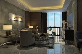 100 Modern Luxury Design Hotel Suite Living Room 3D Model
