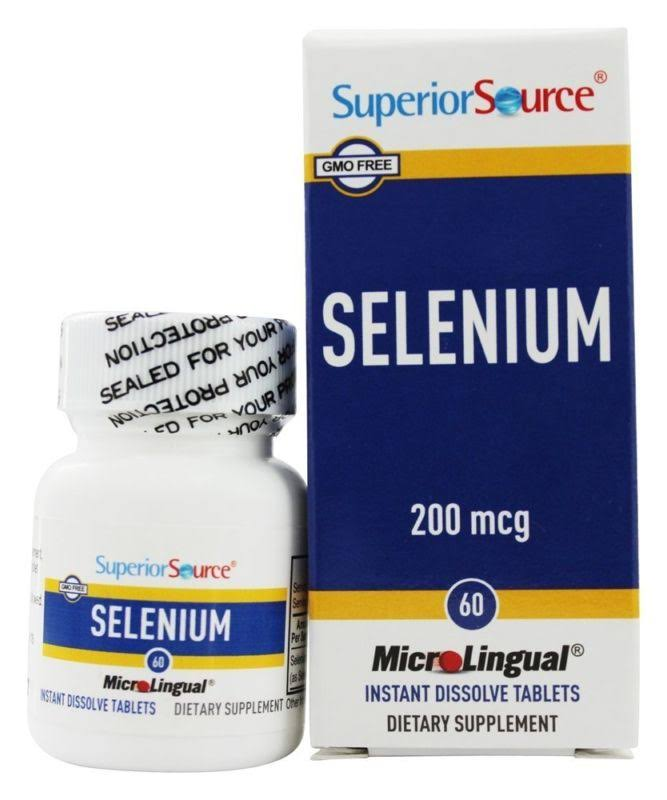 Superior Source Selenium Dietary Supplement - 60 Instant Dissolve Tablets, 200mcg