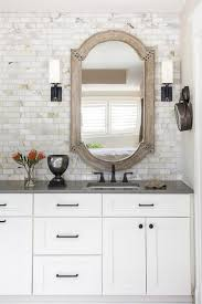 honed marble subway wall tiles transitional bathroom