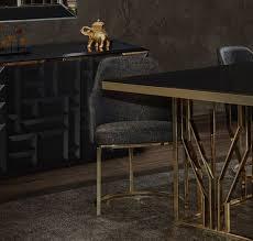 casa padrino luxus esszimmer möbel set grau gold schwarz 1 esstisch 6 esszimmerstühle luxus esszimmer möbel
