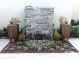 Wall Water Features Outdoor Garden Fountains Contemporary Of Ideas Article Mounted