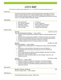 Resume Format For Sales And Marketing Manager Cv Samples Ideas Resumes