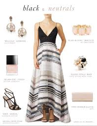 Black And Neutral Striped Gown